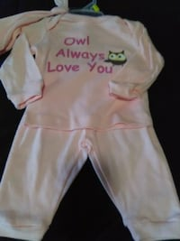 Brand new girls 0-3 months 3pc owl outfit $4.00 Spartanburg, 29303