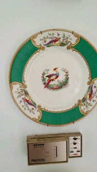 white, green, and red ceramic plate Montreal, H3R 3L4