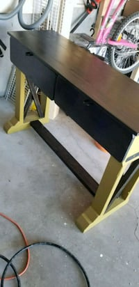 black and brown wooden TV stand Balzac, T0M 0E0