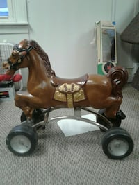 toddler's brown ride on horse