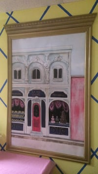 painting of white building