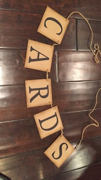 Cards sign - great for wedding or rustic event  Washington, 20002