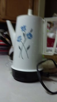 white and blue floral ceramic mug Denver, 80229