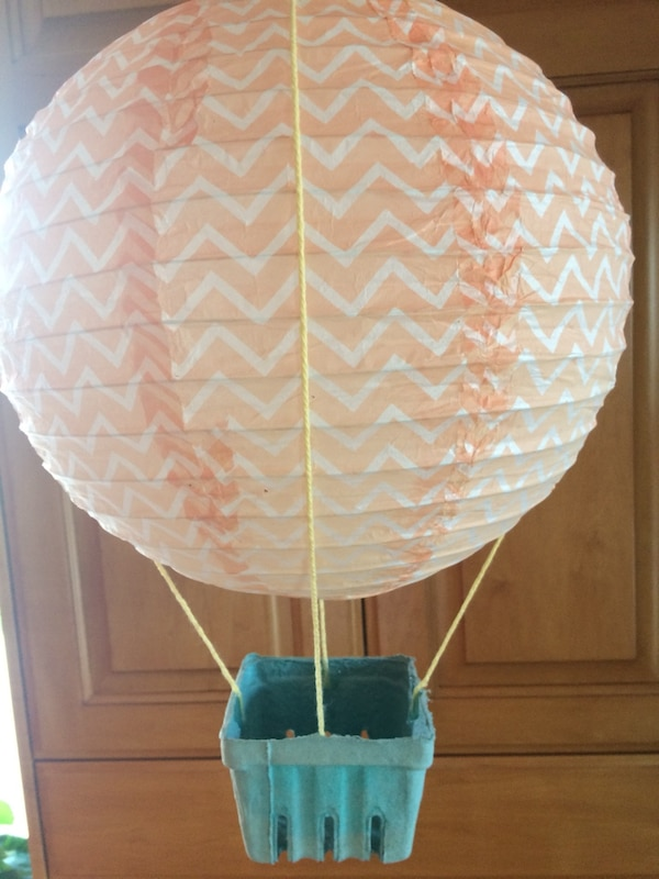 Orange And Teal Hot Air Balloon Decor 11 Baskets Great Shower