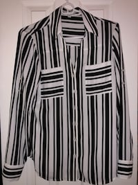 Express black and white stripe dress shirt Arlington, 22201