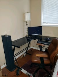 Office chair, computer,  lamp, and speaker see details below  Annandale