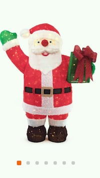 Toasty Tinsel 84 in. LED Giant Fuzzy Santa with Gift Box Hightstown, 08520