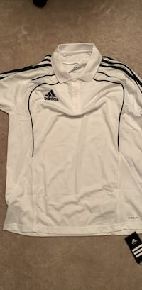 white and black Adidas zip-up jacket Surrey, V3R