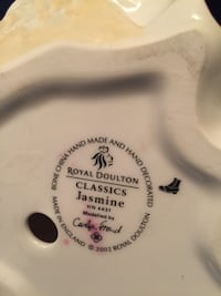 white Royal Doulton ceramic jar
