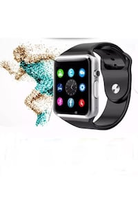 New smart watch black and silver works with iPhone Samsung and lg