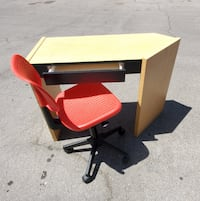 $35 Small Desk and Computer Chair Swivels and height adj...USED Las Vegas