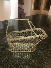 1940's Silver Hand Woven Wine Caddy Asbury Park, 07712