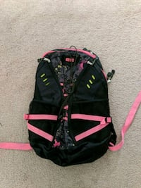 Black and pink neon backpack 58 km