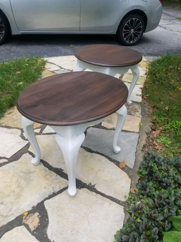 Rustic refinished side tables. 2e94dc30-c487-4f6b-98ce-51fe3e608619