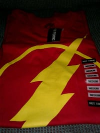 red and yellow the Flash shirt