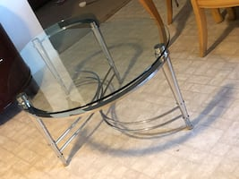 Glass table for sale like new