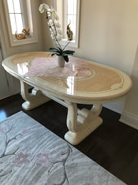 Oval wooden dining table Vaughan, L4H