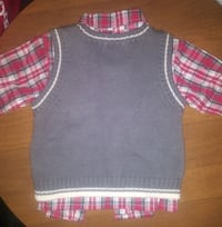 Plaid longsleeve and sweater vest