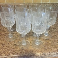 Crystal wine/water glasses. Barely used. Hagerstown, 21740