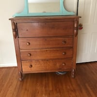 Antique cherry dresser.  Missing knob, but a terrific piece.  Downsizing.  Hope an antique person gets this one? Arlington, 22207