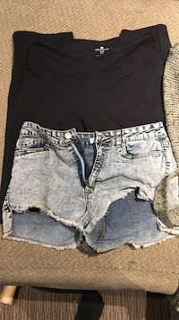 women's blue denim shorts 514 km