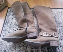 Women's Engineer boots. Leather. Size 8.5