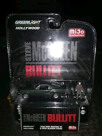 COLLECTABLE LIMITED EDITION STEVE MCQUEEN AND 68 FORD MUSTANG 1:64
