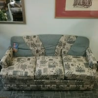 white and brown floral fabric 2-seat sofa Oakville, L6L 5N1