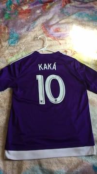 purple and white jersey shirt