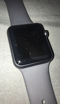black Apple watch with black sports band Silver Spring, 20910