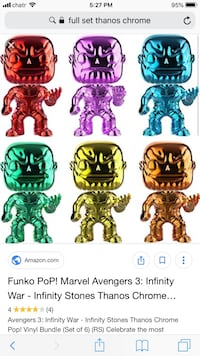 CHROME THANOS FUNKO SET. Mint Toronto, M5P 3H3