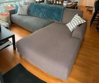 Grey/brown sectional sofa Vancouver, V6B 1X5