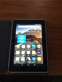 White Amazon Kindle Fire in great condition case is for free  Gardner, 01440