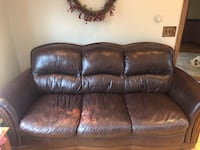 Brown leather couch  399 mi
