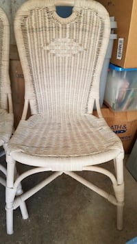 Real Wicker Dining Chairs  (4)