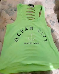 Never worn, lime green tank top, size small