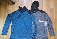 2 Brand New Athletic (Pro Air-Fit) Large Long Sleeve Hoody Shirt Toronto