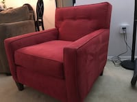 red fabric padded sofa chair Alexandria, 22311