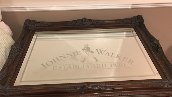 Johnnie Walker very rare 1970s mirror