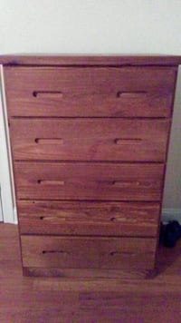Chest by itself asking 125. If you need matching bed, sealy posture ped. mattress and box spring will sell as bundle for 375.00. All pieces are solid wood from high end furniture store. Also pictured is the back of chest. All wood no board in the back. Se