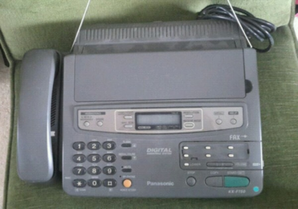 gray Panasonic IP phone