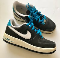 Nike Air Force 1 Black and Blue Sneakers Size 7Y  North Las Vegas, 89085