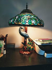 Tiffany style peacock lamp Virginia Beach, 23454