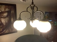 Hanging 3Globe Light with Chain West Miami, 33144