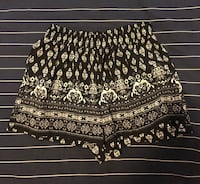 Printed Black Shorts Markham, L3R
