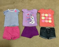 3 Girl outfits Size 4