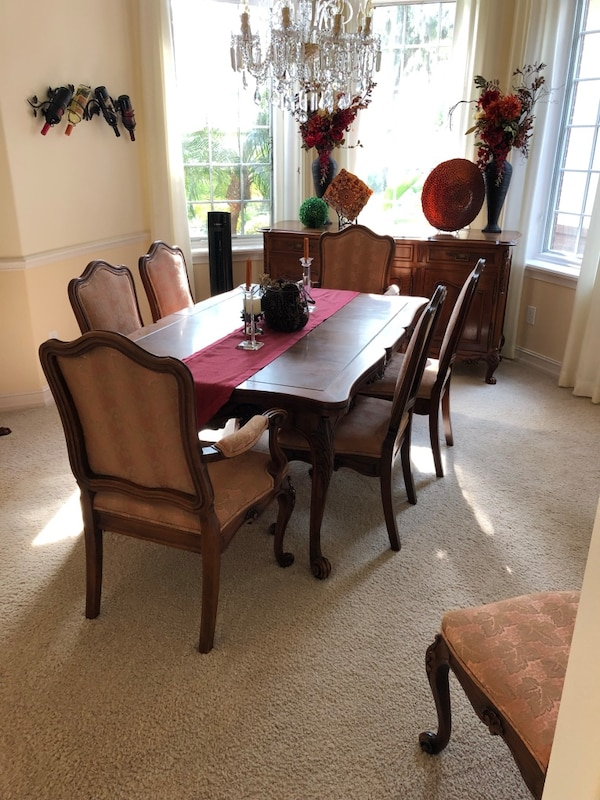 1940 S Dexter Antique Dining Room Set Table Chairs And Buffet