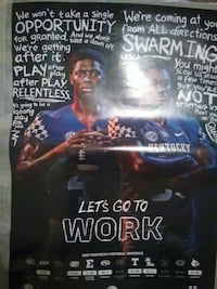 Let's Go To Work football poster Lexington, 40517