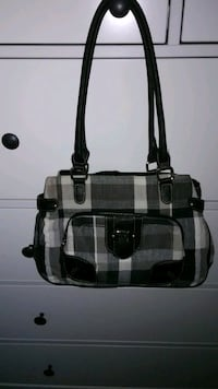 white and black leather tote bag Westmont, 60559