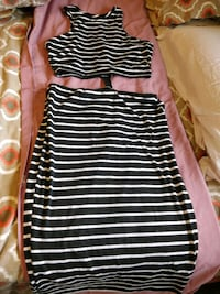 stripe outfit, held together by zipper at back Brampton, L6V 2T9